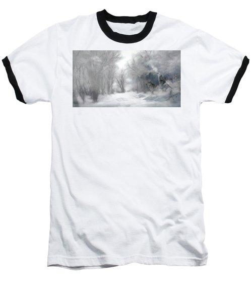 Wolves In The Mist Baseball T-Shirt