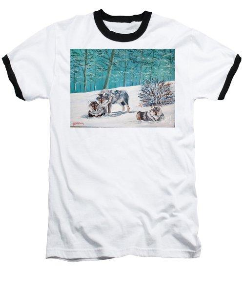 Wolves In The Wild Baseball T-Shirt