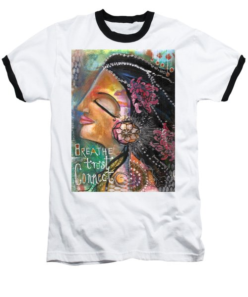 Woman Art Baseball T-Shirt