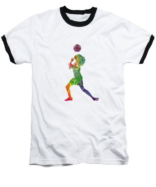 Woman Soccer Player 06 In Watercolor Baseball T-Shirt
