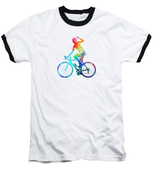 Woman Triathlon Cycling 03 Baseball T-Shirt