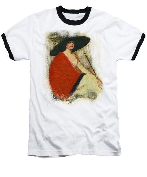 Woman Wearing Hat Baseball T-Shirt
