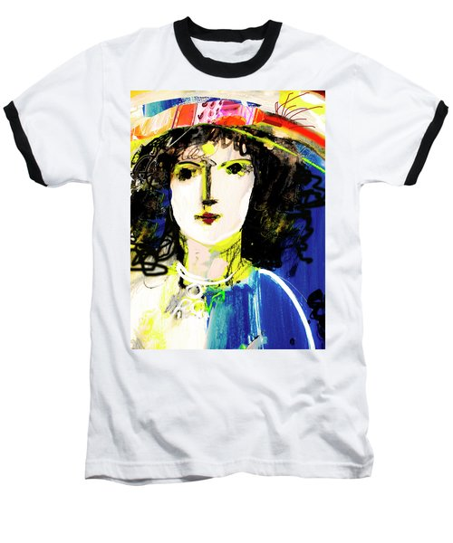 Woman With Party Hat Baseball T-Shirt by Amara Dacer