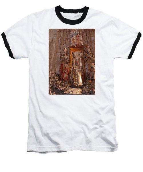 Baseball T-Shirt featuring the digital art Wonders Door To The Luxor by Te Hu
