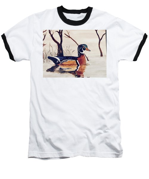 Wood Duck No. 2 Baseball T-Shirt