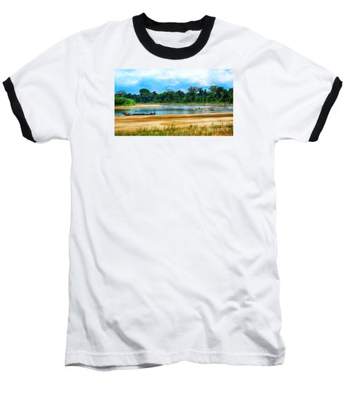 Wooden Boat In Backwaters Jungle Baseball T-Shirt