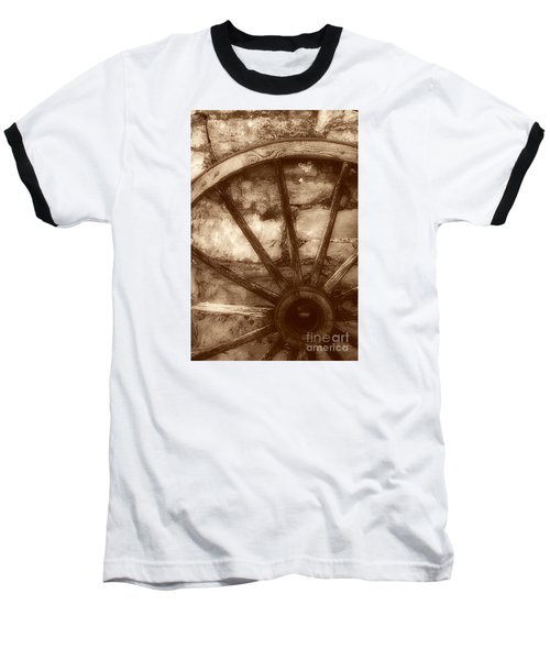 Wooden Wagon Wheel Baseball T-Shirt