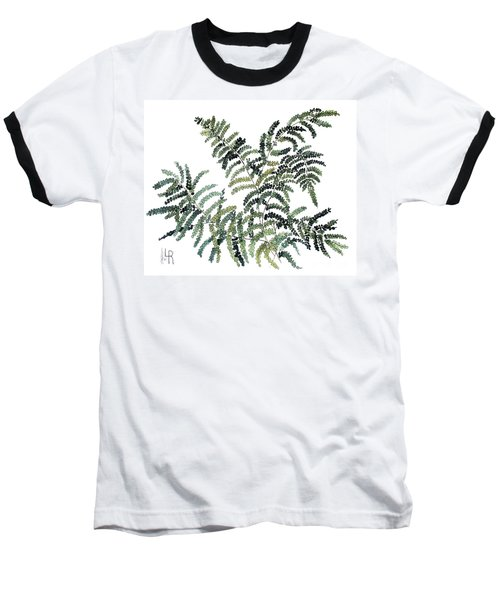 Woodland Maiden Fern Baseball T-Shirt by Laurie Rohner