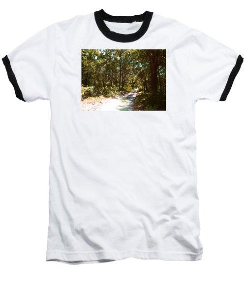 Woodsy Trail Baseball T-Shirt by Ginny Schmidt