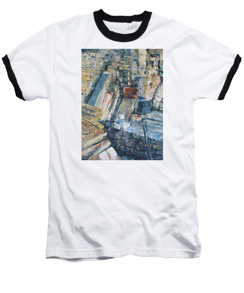 Working To Abstraction Baseball T-Shirt by Connie Schaertl