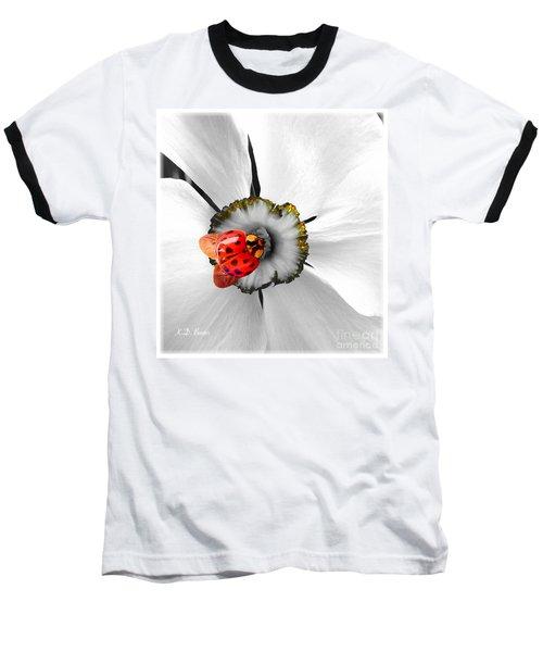 Wow Ladybug Is Hot Today Baseball T-Shirt by Kimberlee Baxter