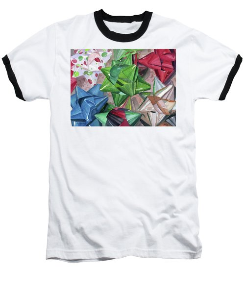 Baseball T-Shirt featuring the painting Wrap It Up by Lynne Reichhart