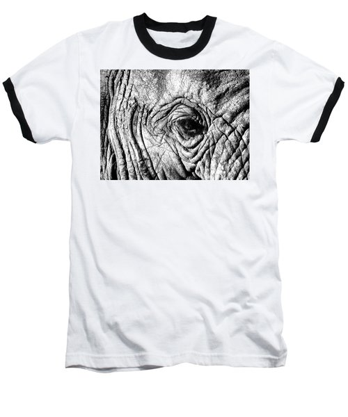 Wrinkled Eye Baseball T-Shirt by Douglas Barnard