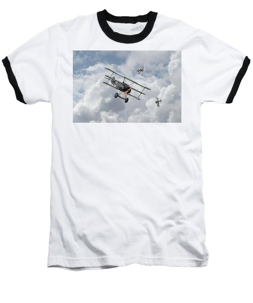 Baseball T-Shirt featuring the photograph Ww1 - Fokker Dr1 - Predator by Pat Speirs