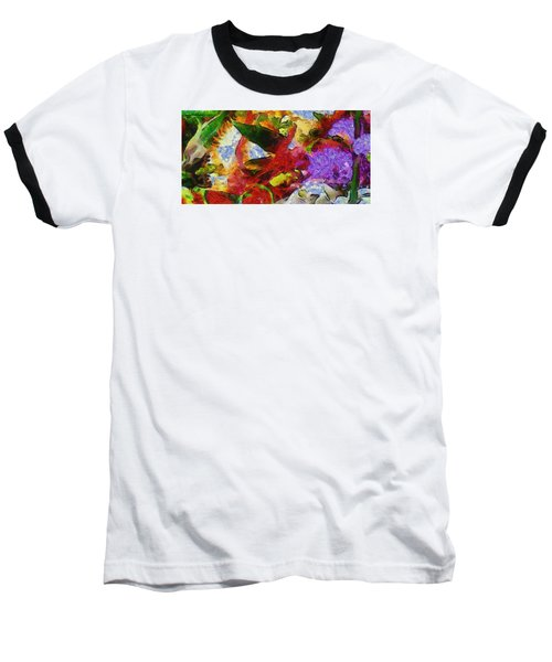 Baseball T-Shirt featuring the photograph Xtreme Floral Three Riot by Spyder Webb