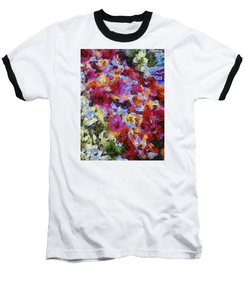 Baseball T-Shirt featuring the photograph Xtreme Floral Five Cascade by Spyder Webb