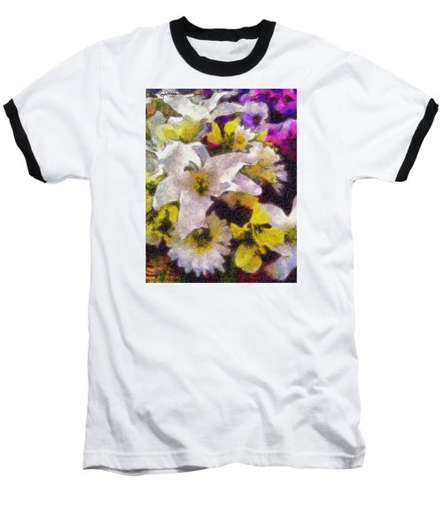 Baseball T-Shirt featuring the photograph Xtreme Floral Six The White Star by Spyder Webb