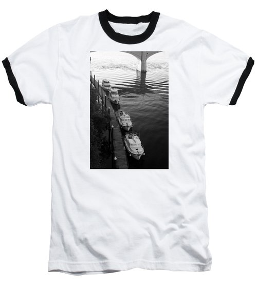 Yachts At Dock Baseball T-Shirt