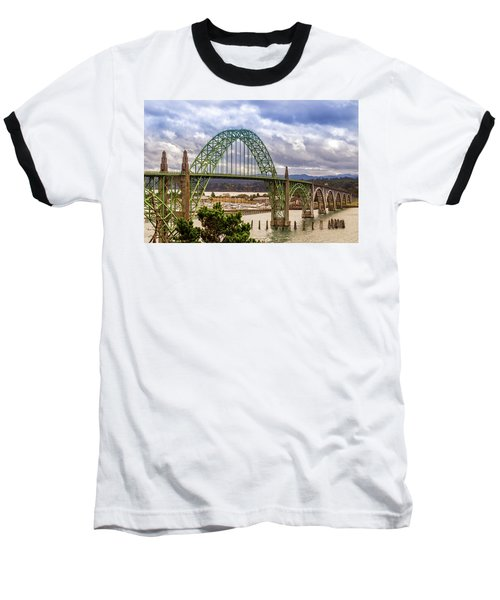 Baseball T-Shirt featuring the photograph Yaquina Bay Bridge by James Eddy