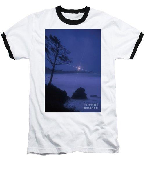 Yaquina Head At Night Baseball T-Shirt