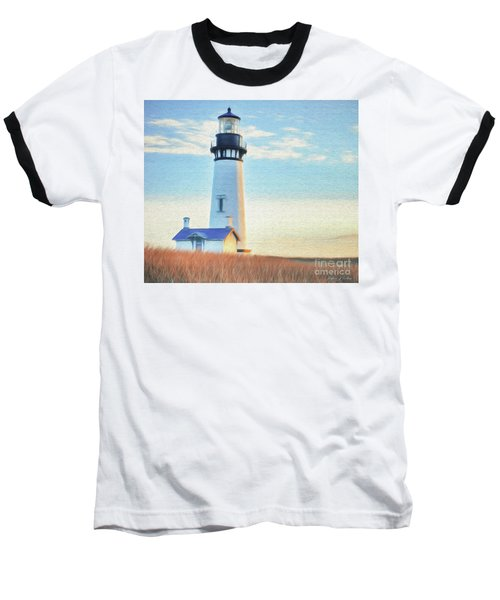 Yaquina Head Lighthouse Baseball T-Shirt