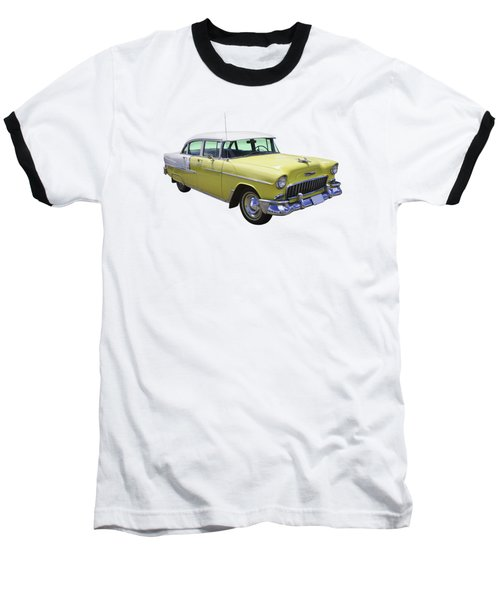 Yellow 1955 Chevrolet Bel Air Baseball T-Shirt