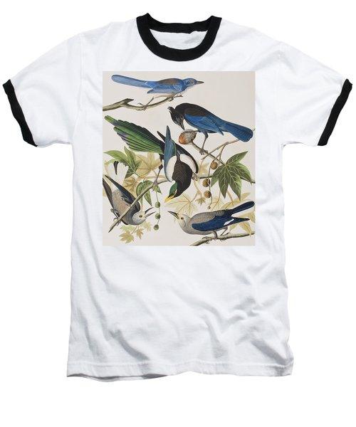 Yellow-billed Magpie Stellers Jay Ultramarine Jay Clark's Crow Baseball T-Shirt
