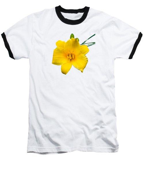 Yellow Daylily Flower Baseball T-Shirt