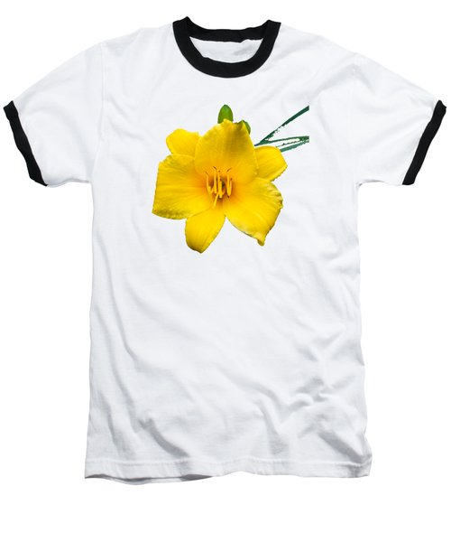 Yellow Daylily Flower Baseball T-Shirt