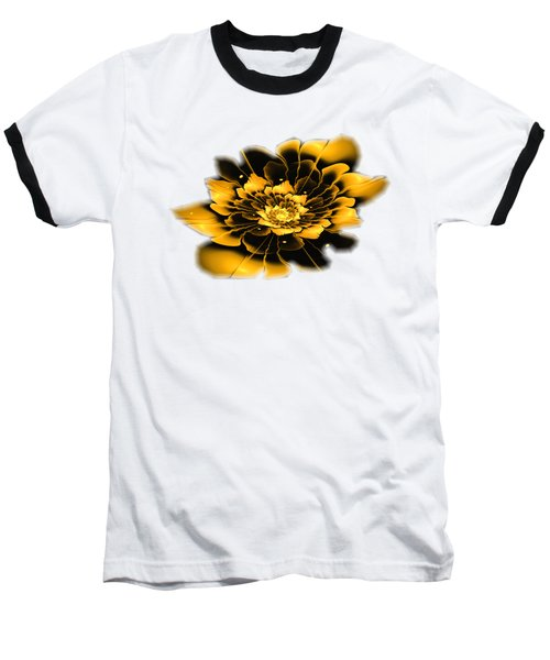 Yellow Flower Baseball T-Shirt by Anastasiya Malakhova