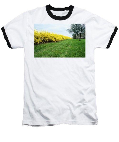 Yellow Flowers Baseball T-Shirt