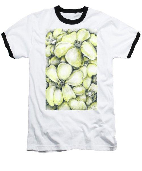 Yellow Flowers Pencil Baseball T-Shirt