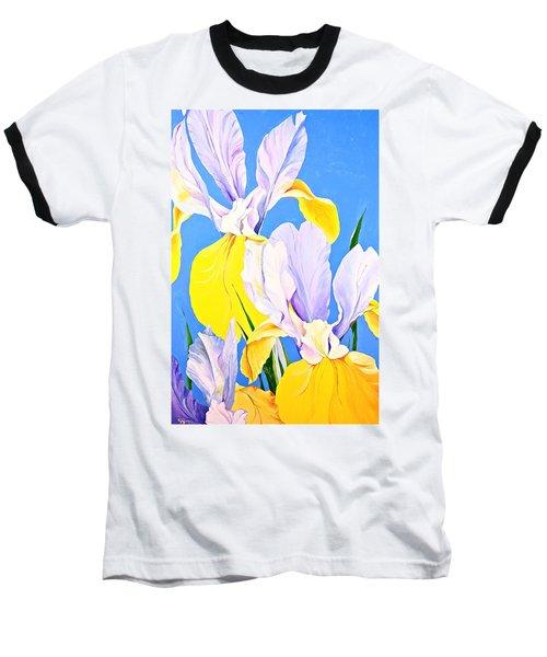 Yellow Irises-posthumously Presented Paintings Of Sachi Spohn  Baseball T-Shirt