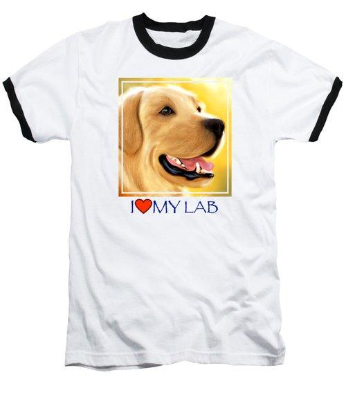 Yellow Lab Portrait Baseball T-Shirt