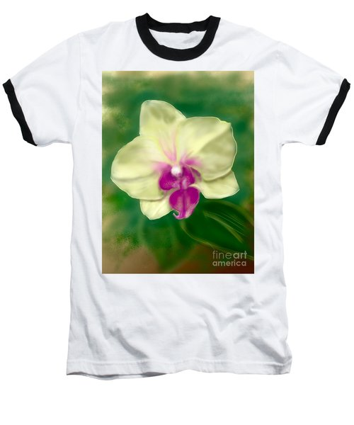 Yellow Phalenopsis Baseball T-Shirt