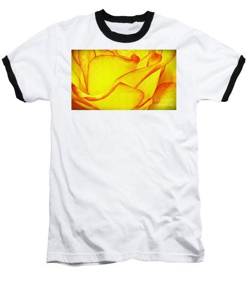 Yellow Rose Abstract Baseball T-Shirt