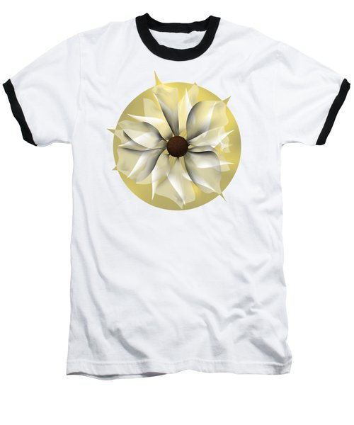 Yellow Soft Flower Baseball T-Shirt