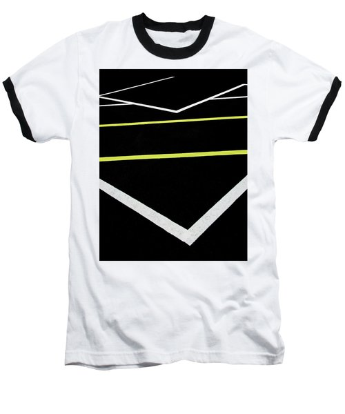 Yellow Traffic Lines In The Middle Baseball T-Shirt
