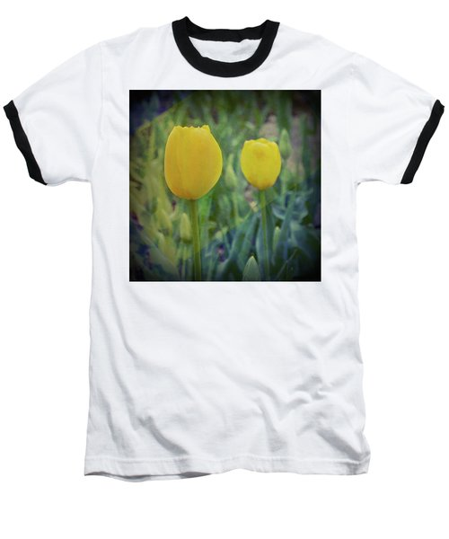 Yellow Tulip Art Baseball T-Shirt