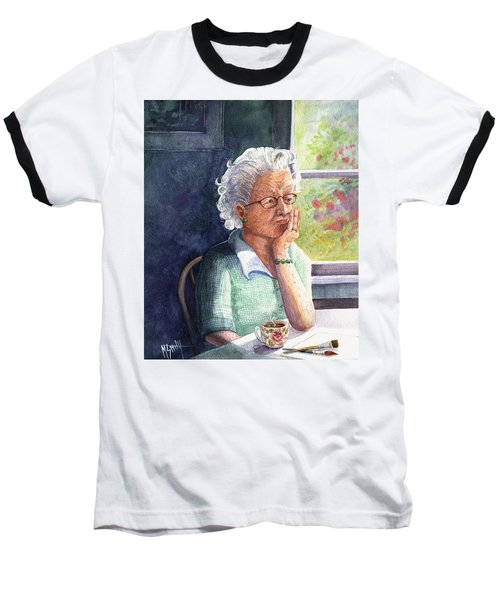 Baseball T-Shirt featuring the painting Yesterday's Gone by Marilyn Smith