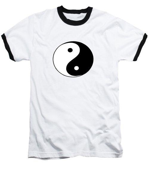 Yin And Yang Baseball T-Shirt by Pat Cook