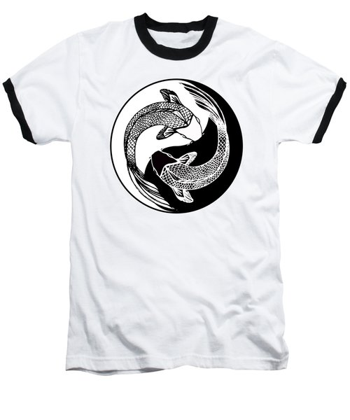 Yin Yang Fish Baseball T-Shirt