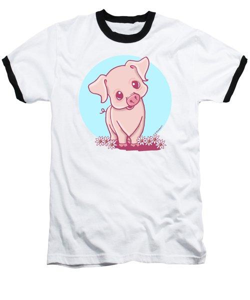 Yittle Piggy Baseball T-Shirt