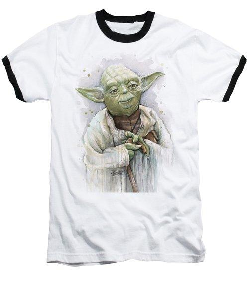 Yoda Baseball T-Shirt by Olga Shvartsur