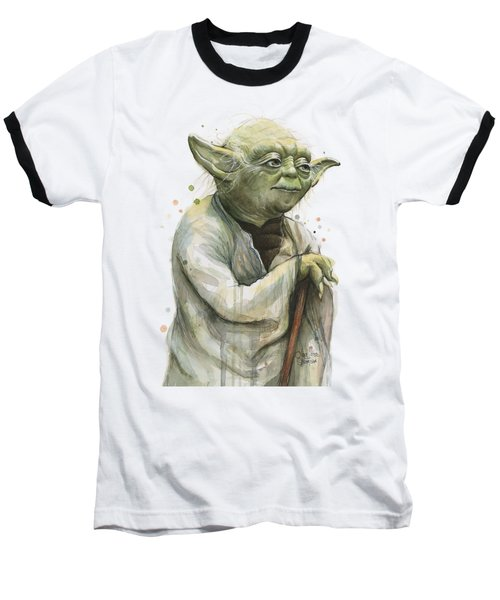 Yoda Portrait Baseball T-Shirt