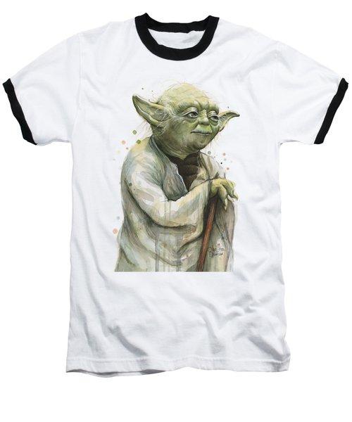 Yoda Watercolor Baseball T-Shirt