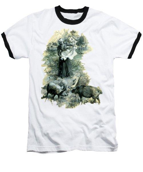 Baseball T-Shirt featuring the photograph Yohn Pigs  by Robert G Kernodle