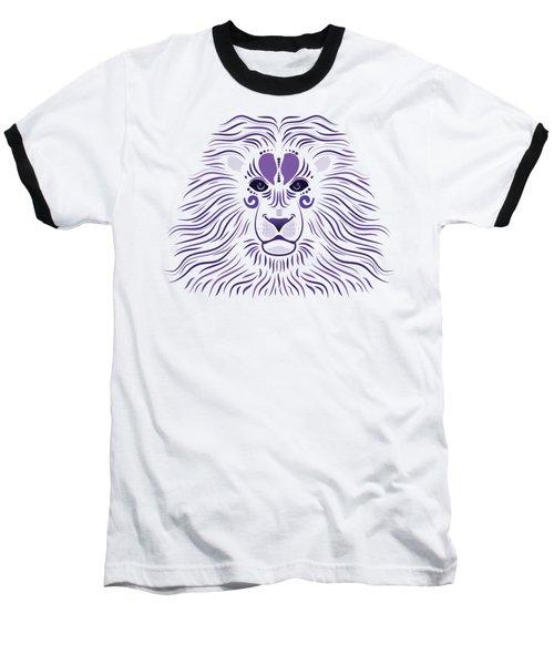 Yoni The Lion - Light Baseball T-Shirt by Serena King