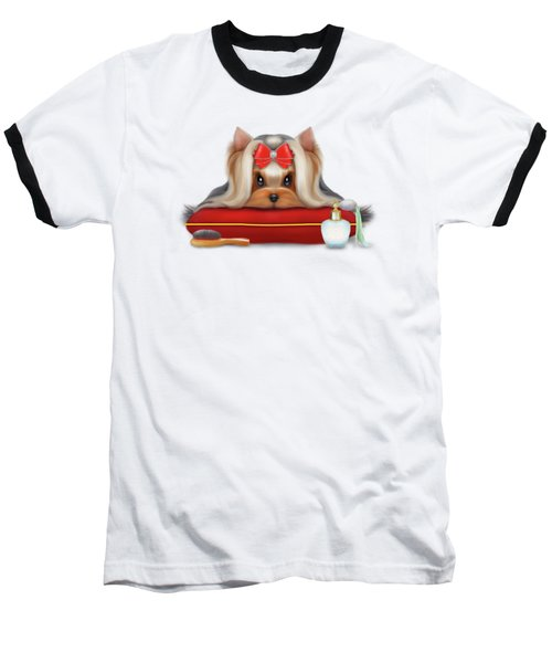 Yorkie Beauty Baseball T-Shirt