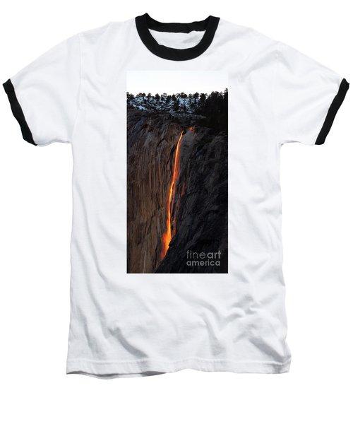 Yosemite Fire Falls - 2016 Baseball T-Shirt